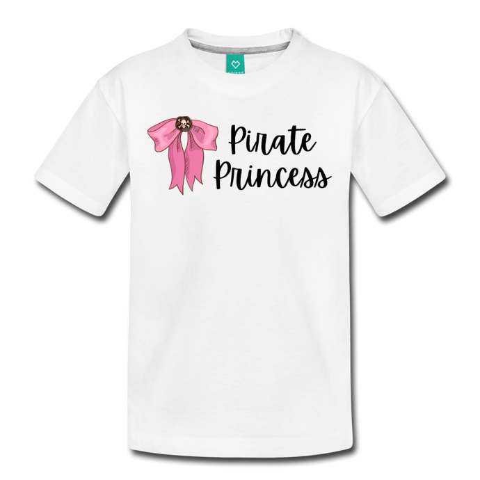 Toddler Light Pink Bow Premium T-Shirt - white
