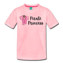 Load image into Gallery viewer, Toddler Light Pink Bow Premium T-Shirt - pink