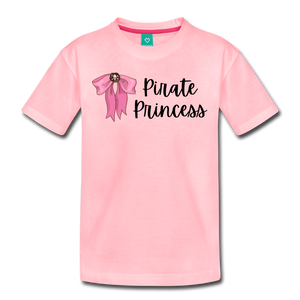 Toddler Light Pink Bow Premium T-Shirt - pink