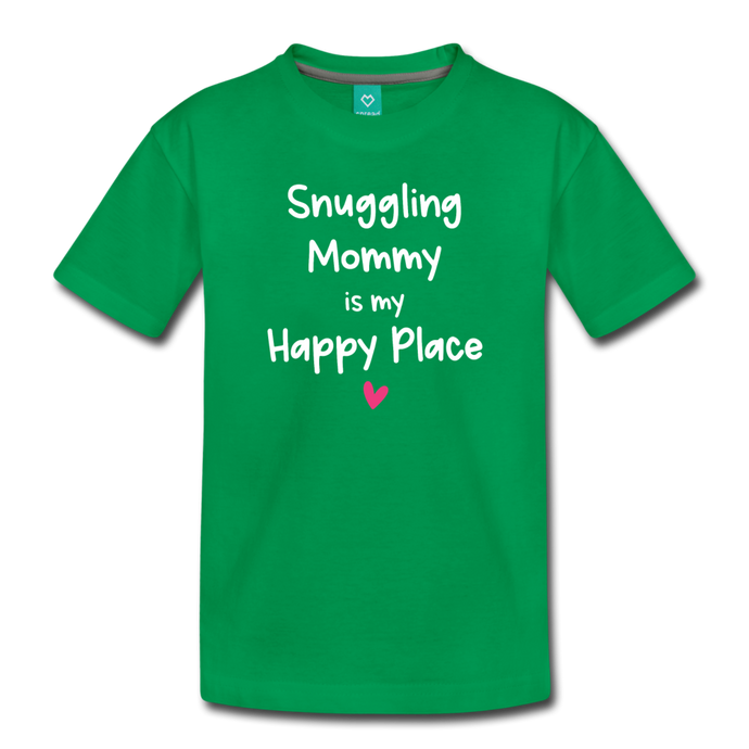 Snuggling Mommy Toddler' Premium T-Shirt - kelly green