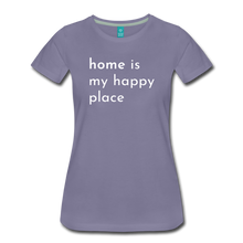 Load image into Gallery viewer, Home Is My Happy Place Women's T-Shirt - washed violet