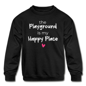 Playground Happy Place Kids' Crewneck Sweatshirt Black and Green - black