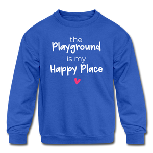 Playground Happy Place Kids' Crewneck Sweatshirt Black and Green - royal blue