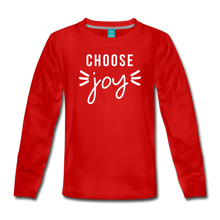 Load image into Gallery viewer, Choose Joy Girls Long Sleeve T-Shirt - red