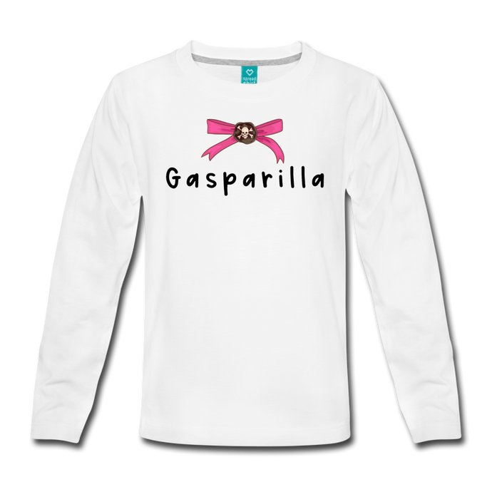 Gasparilla Long Sleeve Girls T-Shirt - white