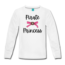 Load image into Gallery viewer, Pirate Princess Long Sleeve Girls T-Shirt - white
