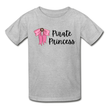 Load image into Gallery viewer, Pirate Princess Girls Cotton Youth T-Shirt - heather gray