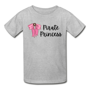 Pirate Princess Girls Cotton Youth T-Shirt - heather gray
