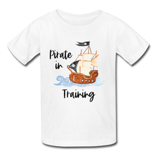 Load image into Gallery viewer, Pirate In Training Cotton Youth T-Shirt - white