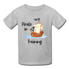 Load image into Gallery viewer, Pirate In Training Cotton Youth T-Shirt - heather gray