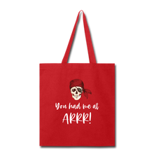 Load image into Gallery viewer, Pirate Tote Bag - red