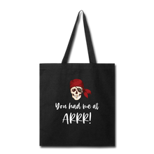 Load image into Gallery viewer, Pirate Tote Bag - black