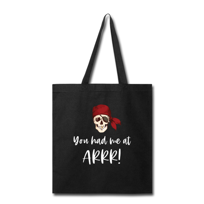 Pirate Tote Bag - black