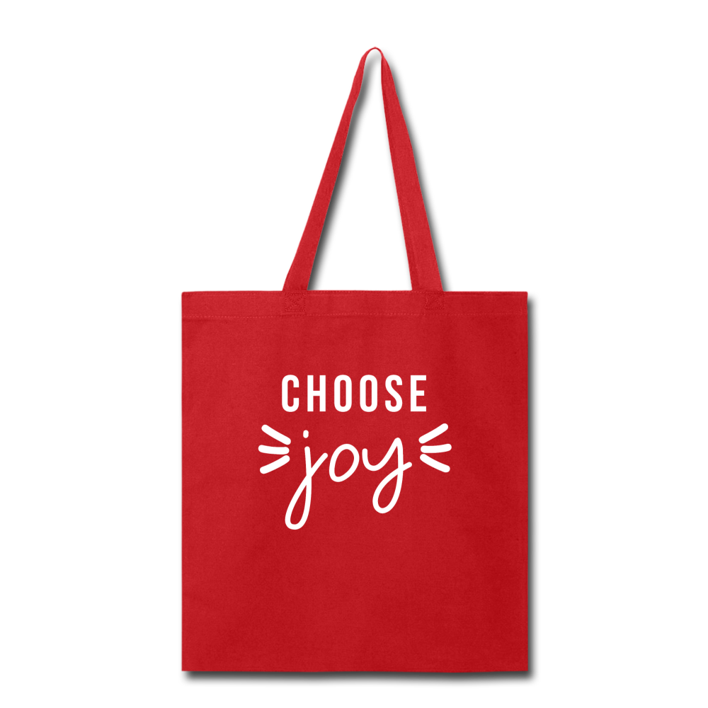 Choose Joy Red Tote Bag - red