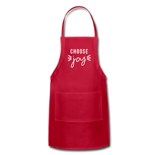 Load image into Gallery viewer, Choose Joy Adjustable Apron - red