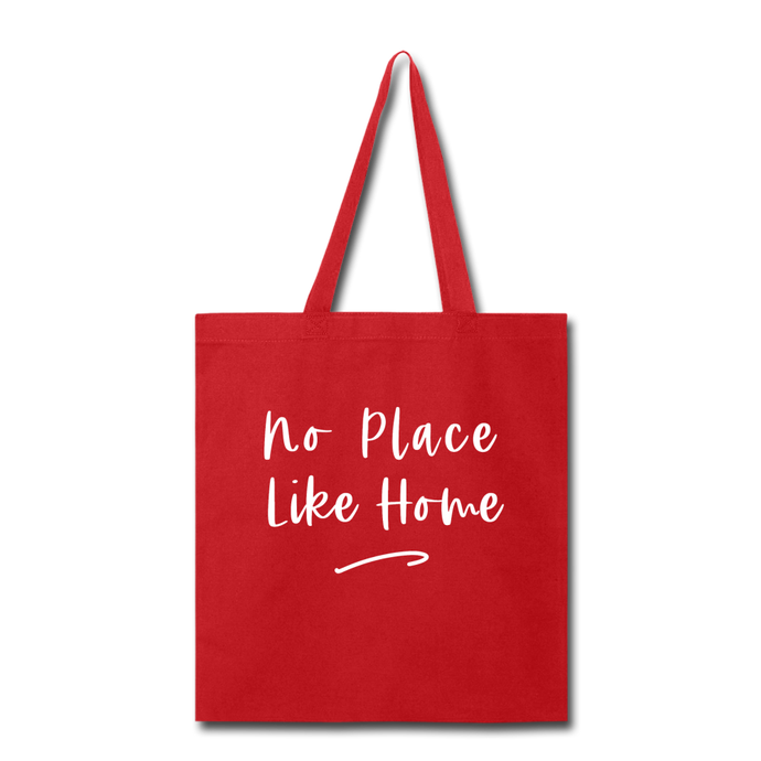 No Place Like Home Tote Bag - red