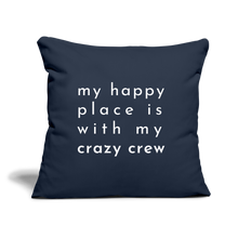 "Load image into Gallery viewer, Crazy Crew Throw Pillow Cover 18"" x 18"" - navy"
