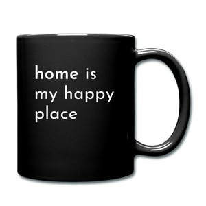 Home Is My Happy Place Mug - black