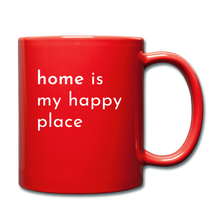 Load image into Gallery viewer, Home Is My Happy Place Mug - red