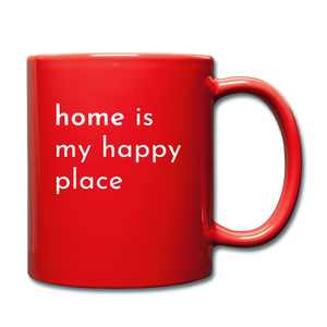 Home Is My Happy Place Mug - red