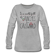 Load image into Gallery viewer, In a World Full of Grinches be a Griswald Women's Long Sleeve T-Shirt - heather gray