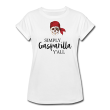Load image into Gallery viewer, Gasparilla Women's Relaxed Fit T-Shirt - white