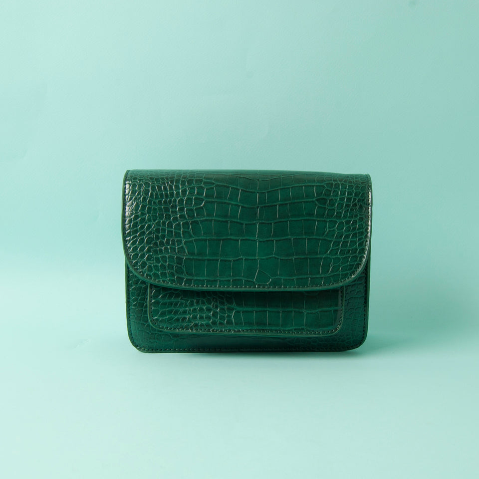Green Snake Shoulder-Bag