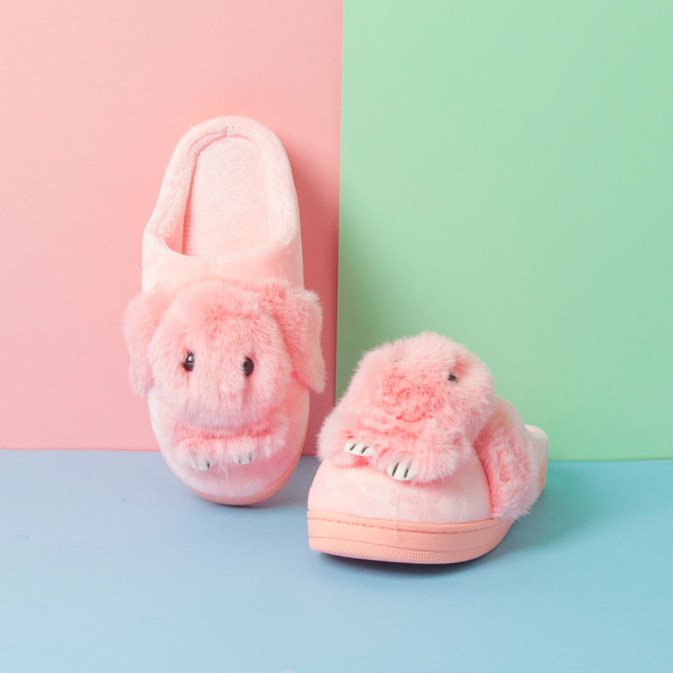 Pink Rabbit Fuzzy Slipper