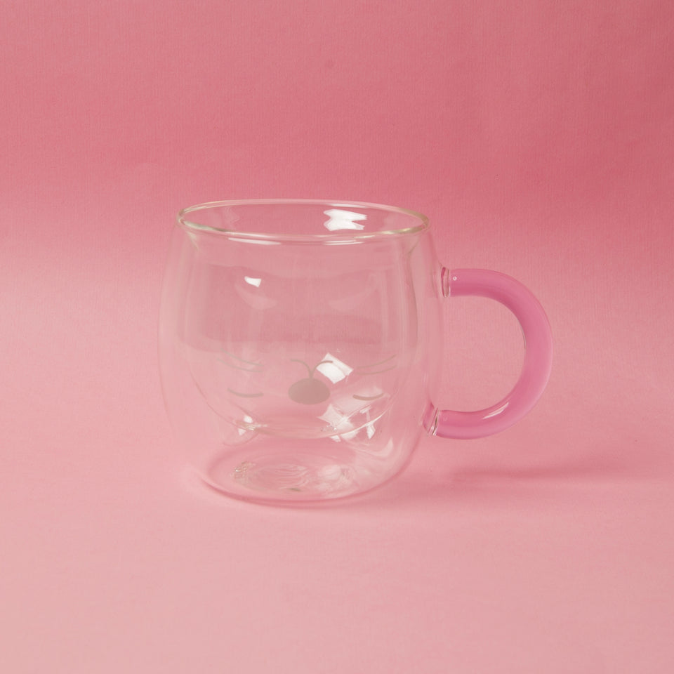Cat Glass Cup With Ear