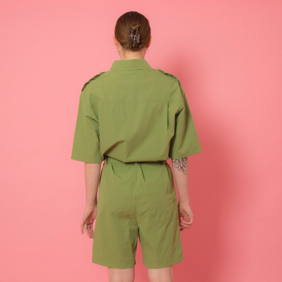 Utility Green Playsuit