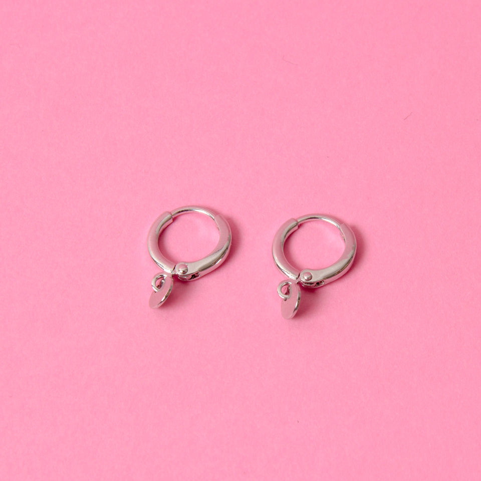 Earrings Mini Coin Silver