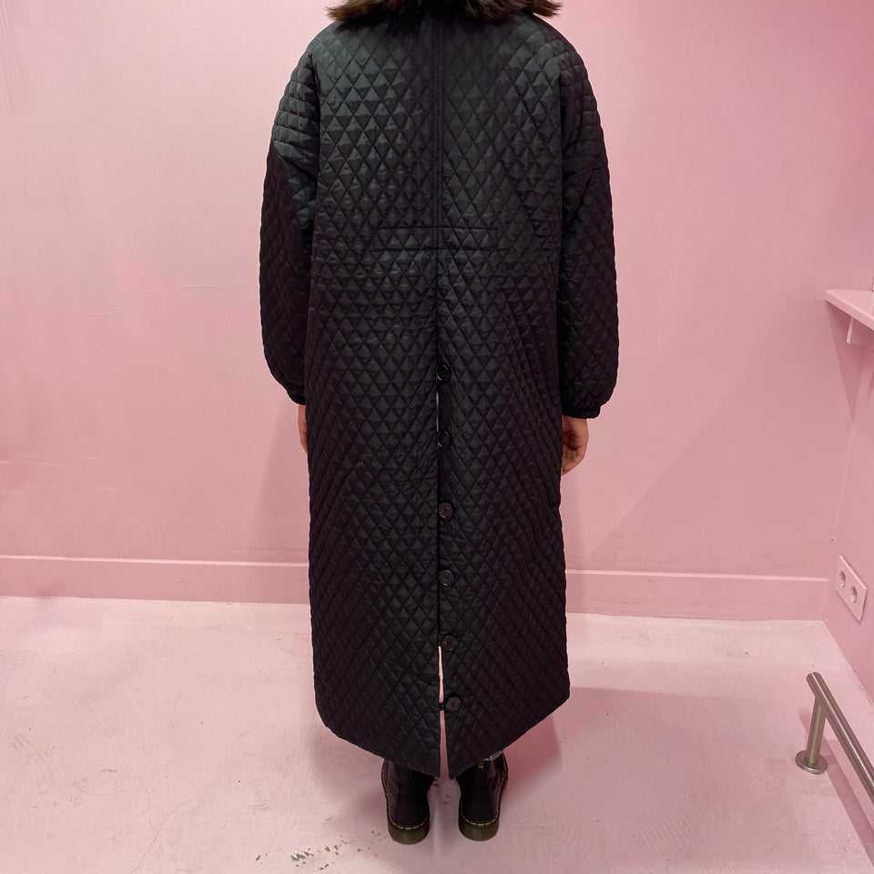 EAM Padded Black Coat