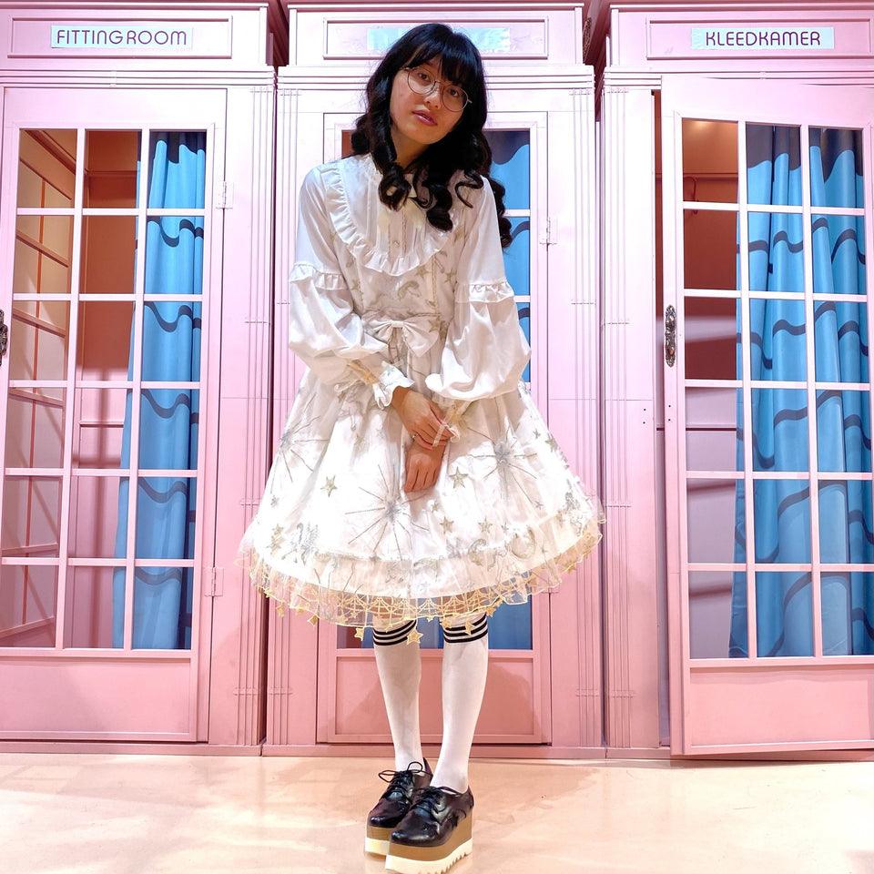 Lolita Starpattern White Dress