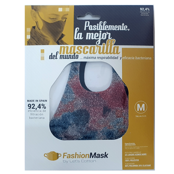 Mascarilla higiénica Fashion Purpurina Barroco Multicolor U - Combinator.es