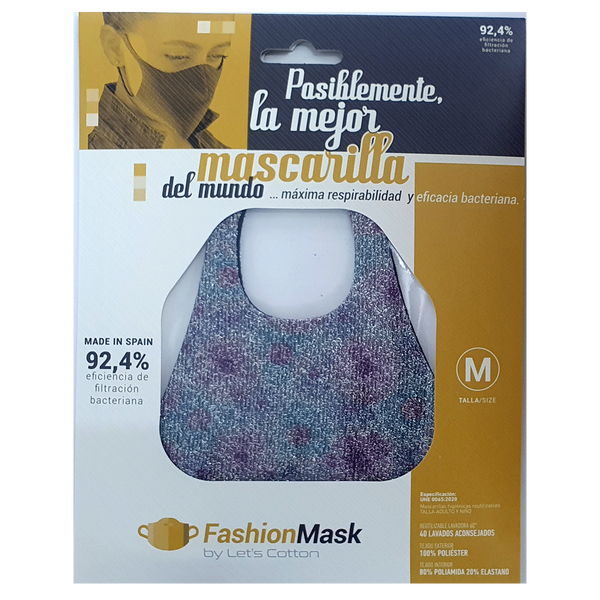 Mascarilla higiénica Fashion Purpurina Nubes Rosa - Combinator.es