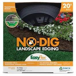 No Dig Edging Kit, Recycled Plastic, 20-Ft.