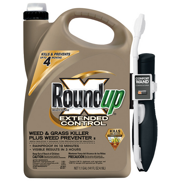 ROUNDUP EXTENDED CONTROL WEED & GRASS KILLER READY-TO-USE WAND 1.1 GAL