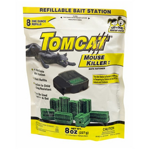 TOMCAT MOUSE KILLER I BAIT STATION WITH REFILLS 8 PACK