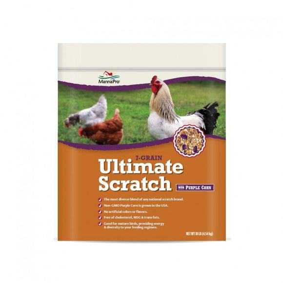 Manna Pro Adult Poultry Care 7-Grain Ultimate Chicken Scratch Feed with Purple Corn