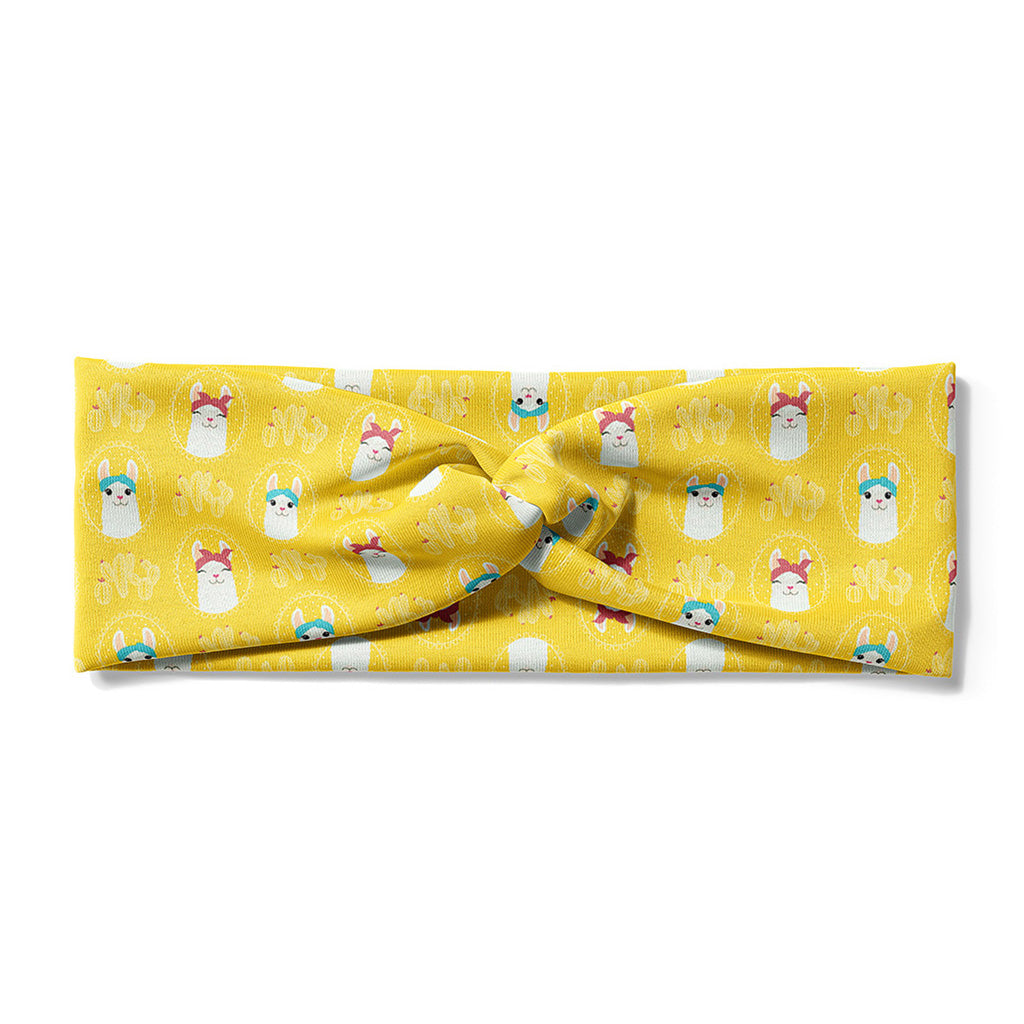 Alpaca Yellow-Faux Knot-Fablebands