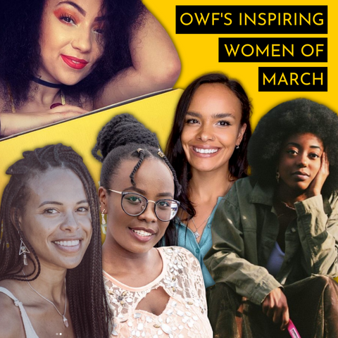 Collage of photos of OWF's Incredible Women of March