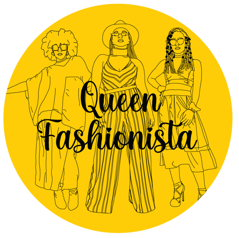 Queen Fashionista title image with three illustrations of models in One Wear Freedom outfits