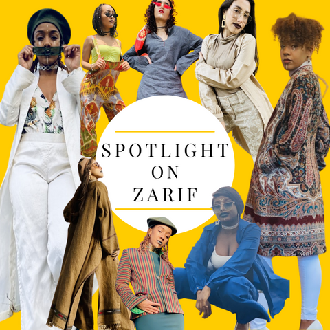 Spotlight on Zarif Title Image with a selection of models in Zarif designs