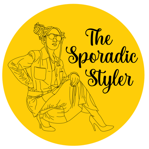 The Sporadic Styler title image with illustration of model in a One Wear Freedom outfit