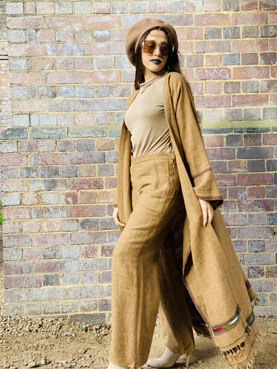 Afghan Desert Maxi Coat + Trouser Suit - One Wear Freedom #product_tags#