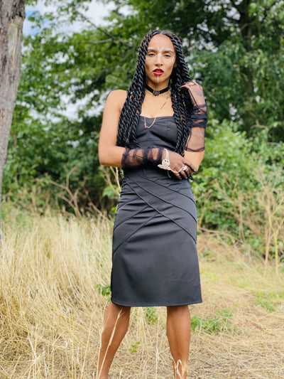 Black Barbie Dress - One Wear Freedom vintage front