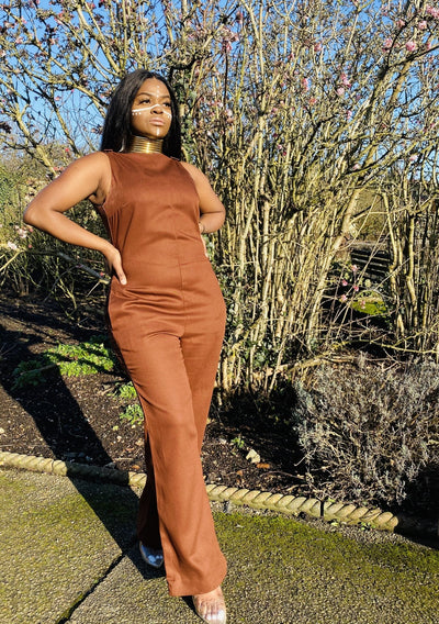 Brown Box Jumpsuit - One Wear Freedom front