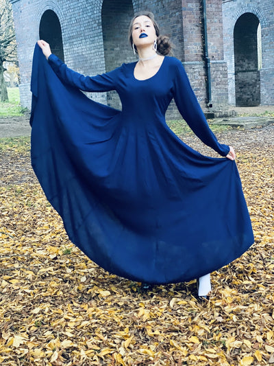 Sapphire Flamenco Dress - One Wear Freedom #product_tags#