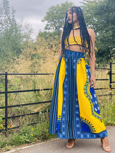 Sunshine Dashiki Maxi Skirt Goodness - One Wear Freedom #product_tags#