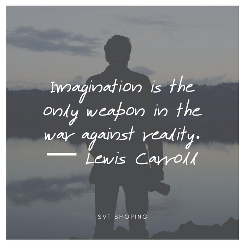 "Lewis Carroll Quotes "" Imagination is the only weapon in the war against reality."""